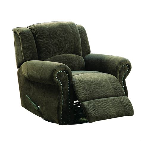recliner swivel rocker chairs homelegance quinn swivel rocking reclining chair in brown