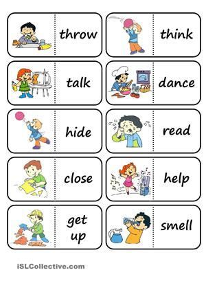 verb pattern dominoes best 25 action pictures ideas on pinterest english