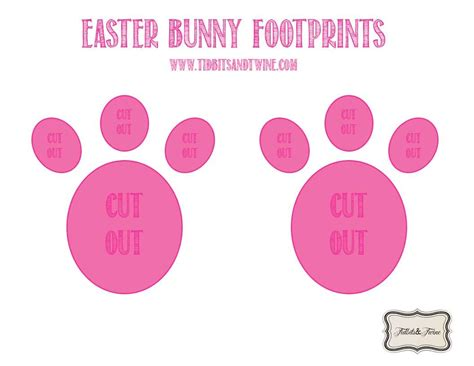 printable elf footprints how to make easter bunny footprints easter bunny easter