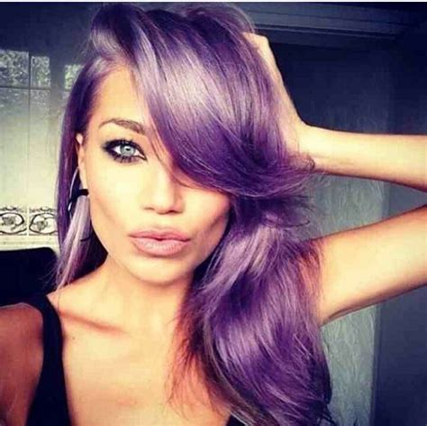 pictures of women swoop hair styles pretty light lavendar hair with side swoop bang