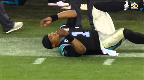 cam baby cam newton crumbles to the ground after defensive penalty