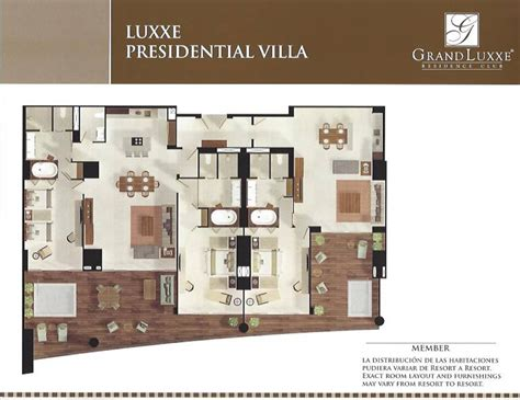 grand luxxe spa tower floor plan grand luxxe presidential villa grand luxxe rentals the