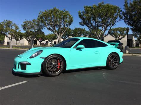 teal porsche 911 epic blue wrapped porsche 911 gt3 gtspirit