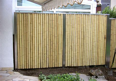 bambuszaun bauhaus bambuszaun m 246 bel und heimat design inspiration