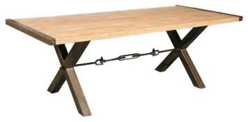 dining table small wood metal
