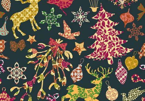 seamless christmas pattern vector seamless patchwork christmas pattern vector download