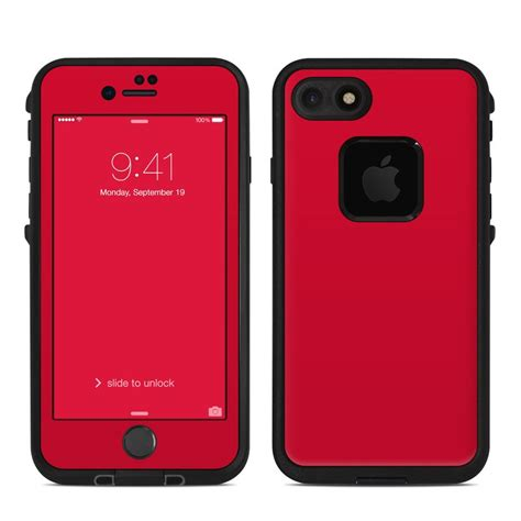 lifeproof iphone  fre case skin solid state red  solid colors decalgirl