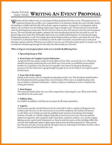 4 how to write an event proposal emt resume