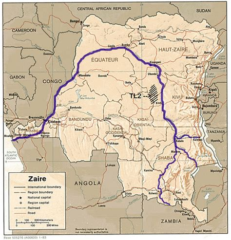 africa map zaire river the congo river page 1