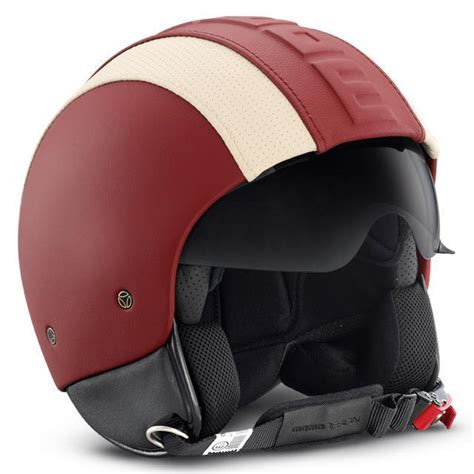 momo design hero helmet momo helmet hero red white leather helmet