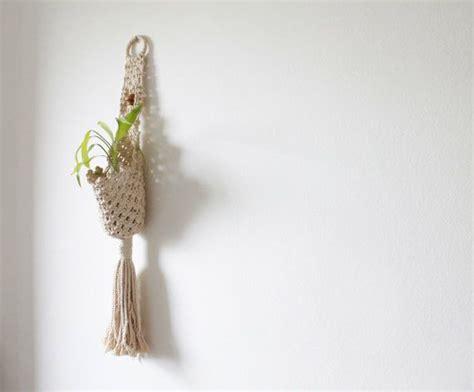 Woven Plant Holder - vintage macrame hanging plant holder woven plant holder