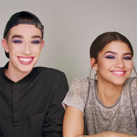 james charles and zendaya covergirl watch zendaya and james charles take on their first makeup