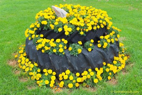 tire flower beds reused tractor tires make great garden beds cookie