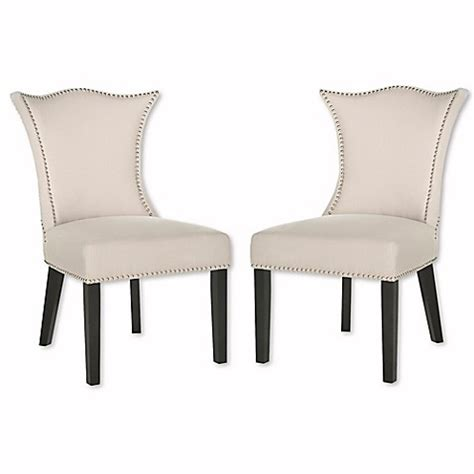 ciara side chair buy safavieh ciara side chairs in grey set of 2 from bed