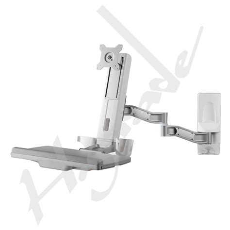 wall mount swing arm laptop stand wall mounted workstation sit stand system wall mount