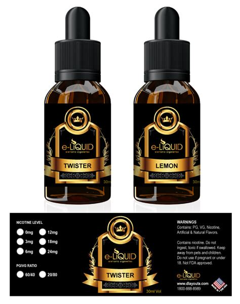 Eliquid E Liquid Ovaltime e liquid label template