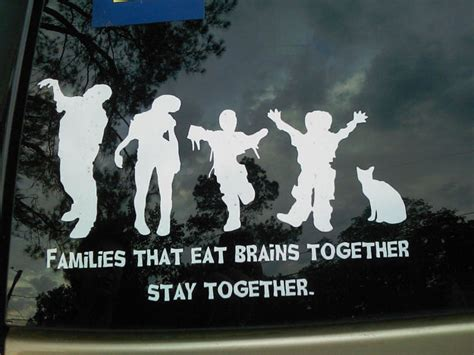 Car Sticker Zombie by The Gallery For Gt Zombie Family Car Stickers