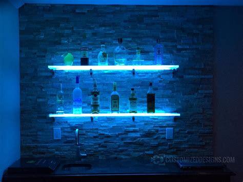 diy lighted bar shelves 15 ideas of floating glass shelves for bar
