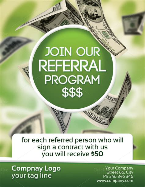 referral flyer template referral program 2 sided flyer flyer templates on