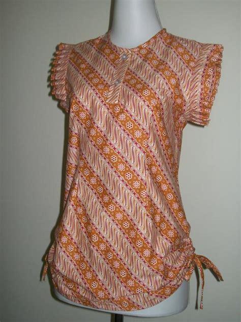 Blus Batik Lilin Abitex 003 dress batik pendek tanpa lengan images