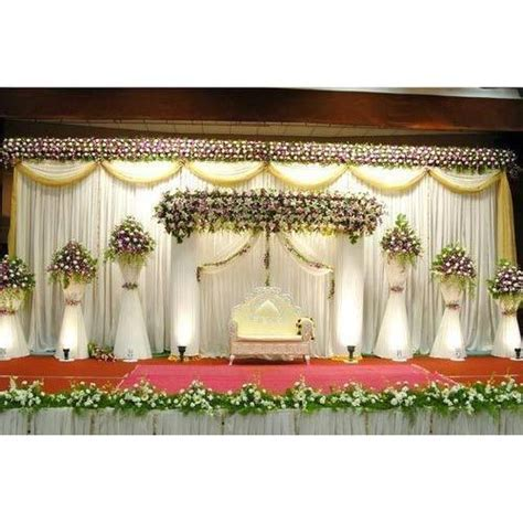 White Flowers Decoration Wedding Stage, For In Wedding, Rs