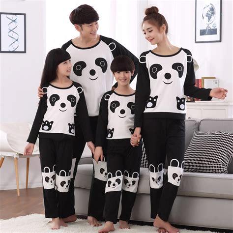 Stelan Baju Tidur Pj Big Size Sleepwear family look pajamas panda pyjamas boys pijamas matching