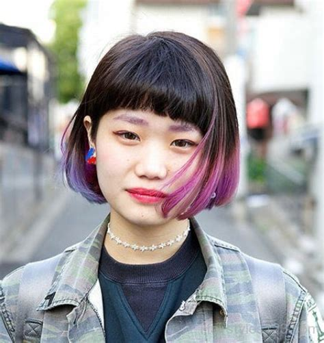 hairstyles with dyed bangs ombre hairstyles page 2