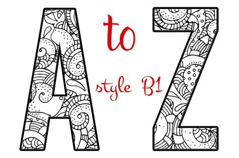 printable mandala letters coloring letters of the alphabet b1 objects creative