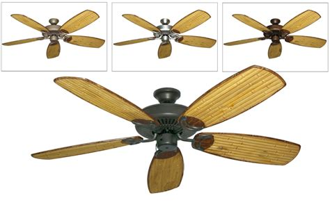 riviera ii tropical ceiling fan w 52 quot arbor 275 blades