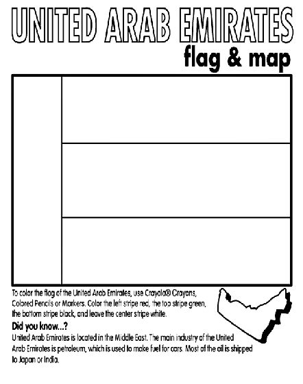 coloring pages uae flag united arab emirates coloring page crayola com