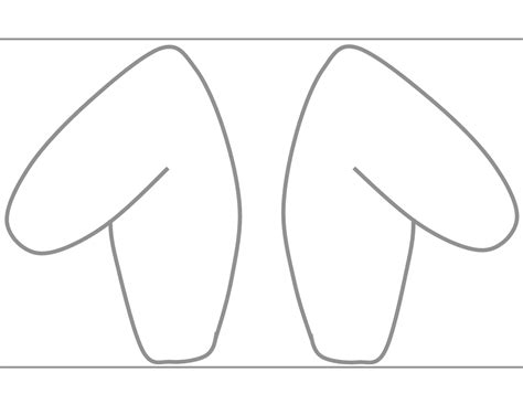 ear template free diy printable rabbit ear template easter crafts