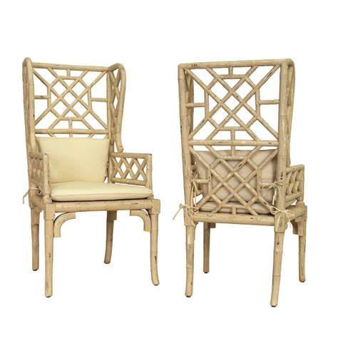 Bamboo And Chairs by Coastal White Bamboo Chairs