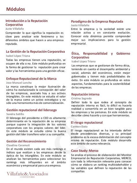 Uah Mba Admission Requirements by Programa Reputaci 243 N Corporativa Y Generaci 243 N De Valor