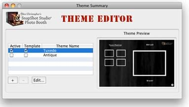 themes editor apps photo booth software theme editor for snapshot studio