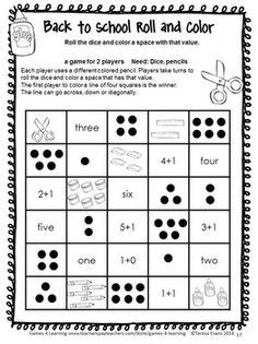 printable math games for kindergarten and first grade classroom math k 2 on pinterest math fractions and