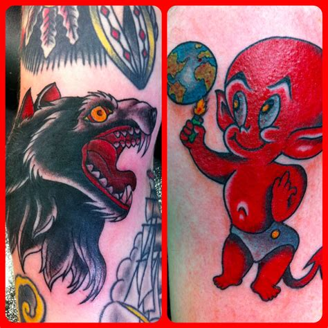 wolf and stuff devil by marco oak city tattoos