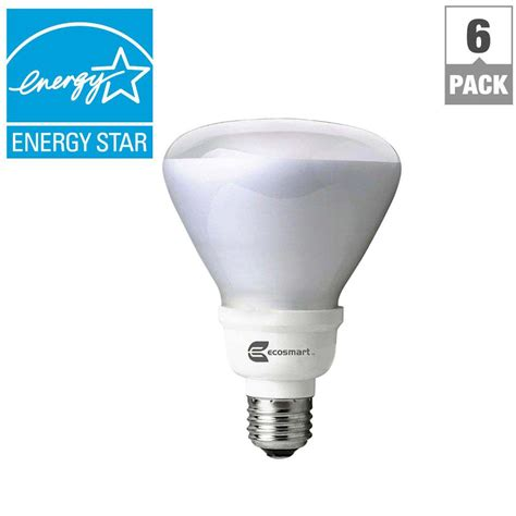 ecosmart light bulbs warranty ecosmart 65w equivalent soft white br30 cfl light 6