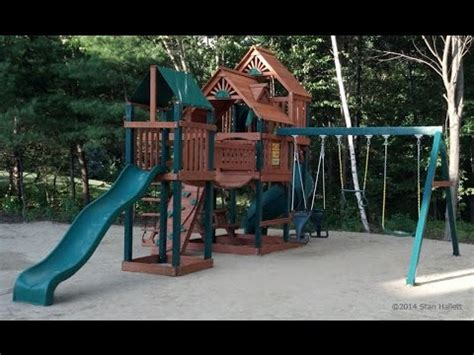 gorilla playsets catalina wooden swing set gorilla playsets treasure trove swing set youtube