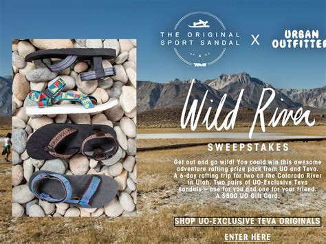 Urban Outfitters Giveaway - urban outfitters x teva wild river sweepstakes