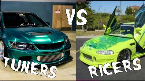 ricer vs tuner tuners vs ricers the key differences youtube