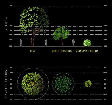 trees  shrub  dwg detail  autocad designs cad