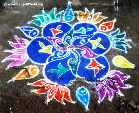 rangoli themes for pongal lotus theme rangoli