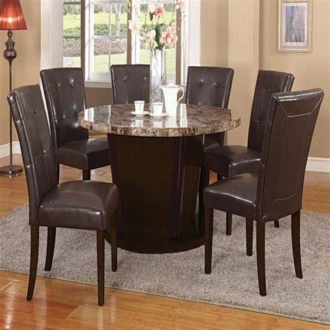 brown marble top dining table set espresso transitional brown marble top dining table