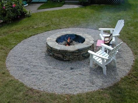diy pit with pea gravel pit with pea gravel outdoor living ideas