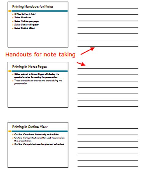 powerpoint handout template print slides in powerpoint 2007