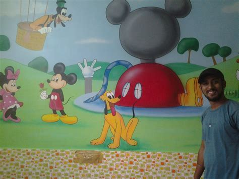 mickey mouse clubhouse wall mural mickey mouse club house wall murals wall painting mumbai