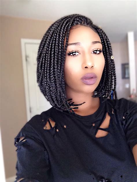 Bob Braids Hairstyles by Only 24 Dollars Box Braid Bob Wig