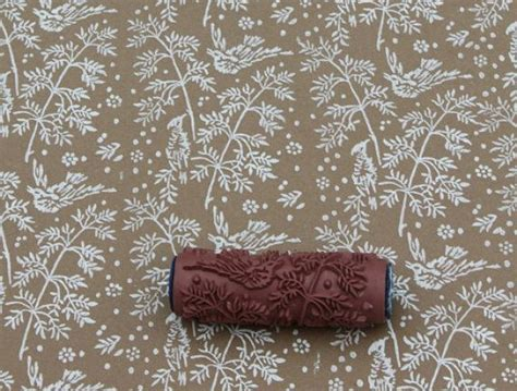 wallpaper paint roller pattern paint roller in spring bird design from not