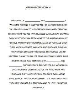 Wedding Ceremony Emcee Script by Best Photos Of Wedding Ceremony Script Template Sle