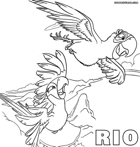 blu rio coloring pages www imgkid com the image kid
